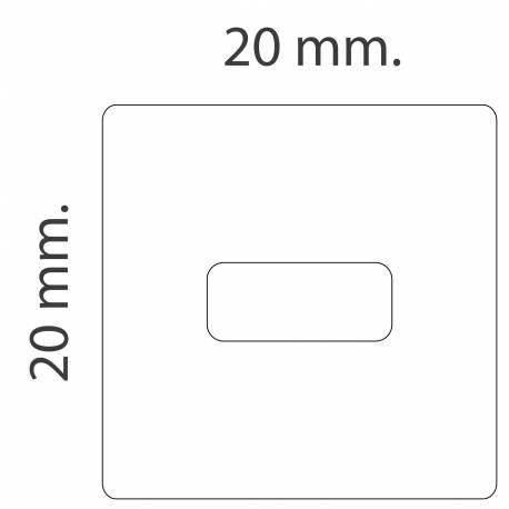 Clip horizontal para rail de techo medidas