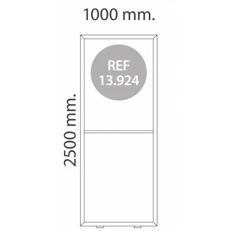 Totem luminoso de 100X250 cm para textil MEDIDAS