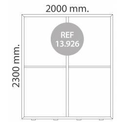 Totem luminoso de 200X230 cm para textil
