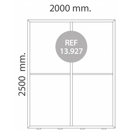 Totem luminoso de 200X250 cm para textil MEDIDAS