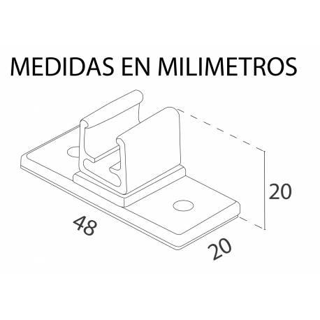 Base adhesiva para marcos