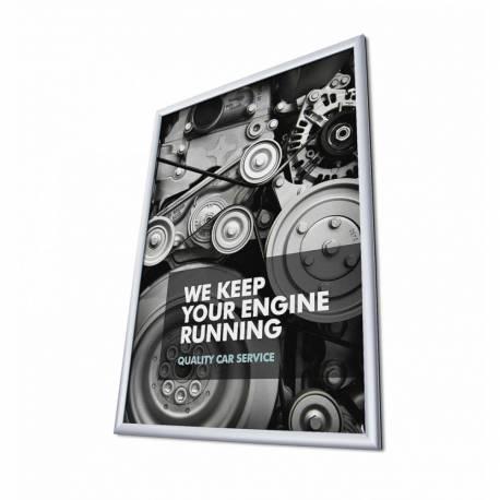 Marco de aluminio para cartel 50x70 cm perfil 25 mm