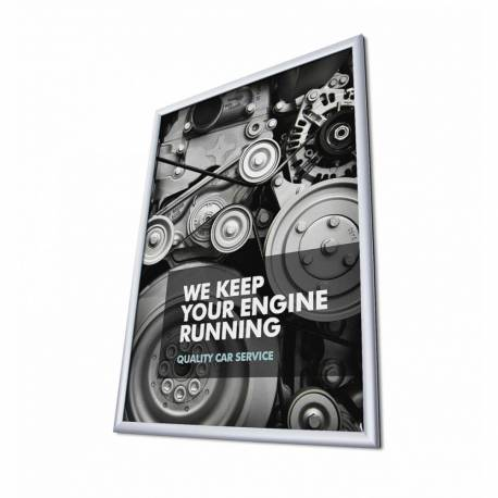 Marco de aluminio para cartel de 70x100 cm perfil 25 mm