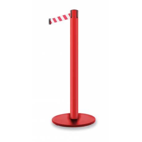 Poste de seguridad con cinta de 370 cm