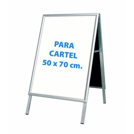 Caballete para cartel de 50x70 cm