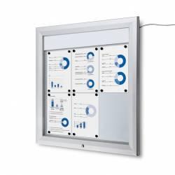 Vitrina para 6 DIN A4 con iluminación LED impermeable e ignífuga