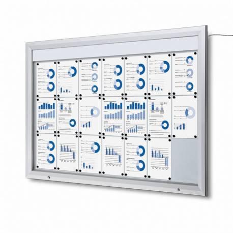 Vitrina para 21 DIN A4 con iluminación LED impermeable e ignífuga