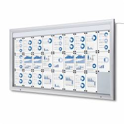 Vitrina para 27 DIN A4 con iluminación LED impermeable e ignífuga