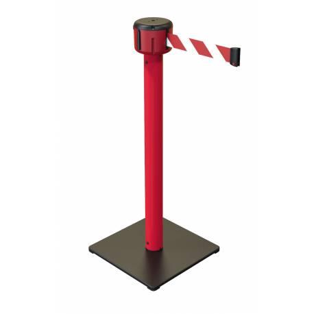 Poste de seguridad con cinta de 10 metros