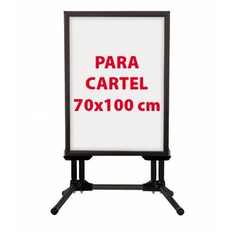 Caballete negro con patas para cartel 70x100 cm