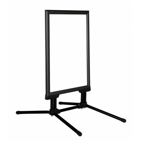 Caballete negro para exterior marco 44 mm