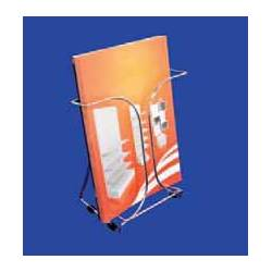 Portafolletos metálico Cromado para A4 1 cajetin