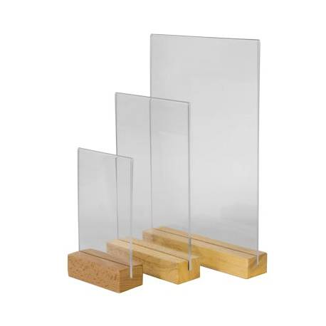 portagráfica base madera cuadrada vertical