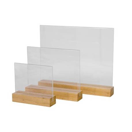portagráfica base madera cuadrada horizontal