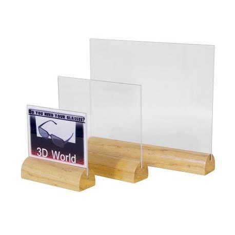 Portagráfica base madera oval horizontal