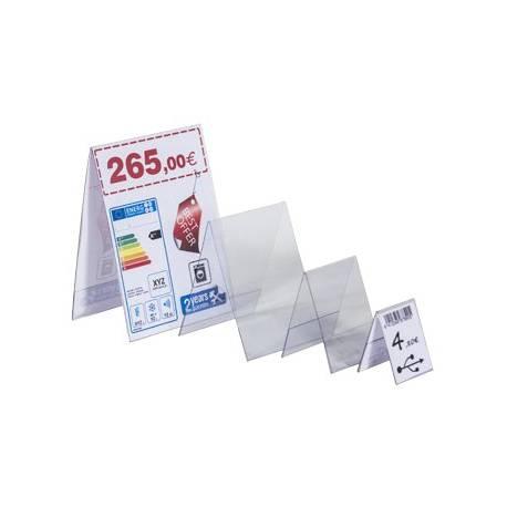 Portaprecios de PVC vertical