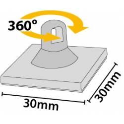 Colgador adhesivo 30x30 mm