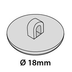 Colgador redondo 18 mm