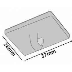 Colgador 37x26 mm