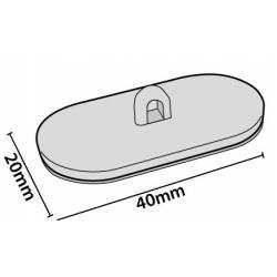 Colgador ovalado 40x20 mm