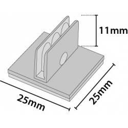 Clip adhesivo multiusos