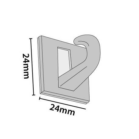 Gancho adhesivo para techo 24x24 mm