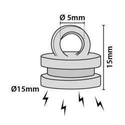 Imán circular con anilla