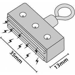 Imán 35x13 mm con anilla