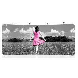 Display para textil curvo 526x230 cm