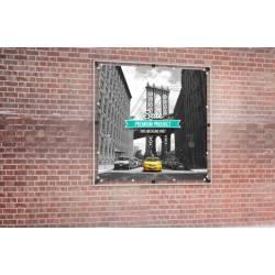 Kit para lona de fachada 2x2 metros