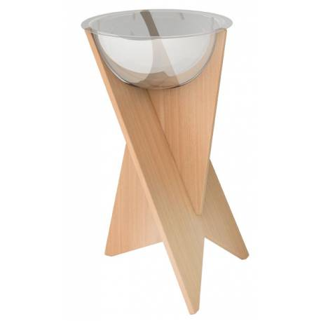 Promotor con base de madera