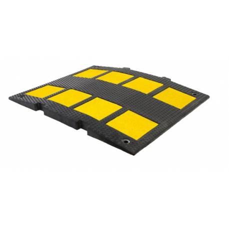 Banda sonora o Speed Bump de 30 mm de alto y 600 mm de ancho. Largo de cada tramo 50 cm