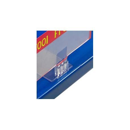 Base portaprecios recta ejemplo de uso