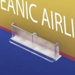 Base portaprecios adhesiva