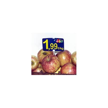 Pincho para tarjetas de precio ejemplo de uso