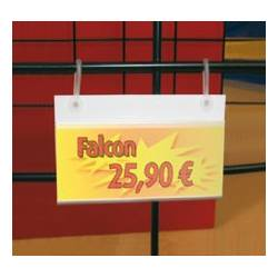 Porta precios para traseras de rejilla