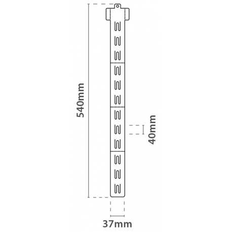 Expositor tira de clips de 540 mm