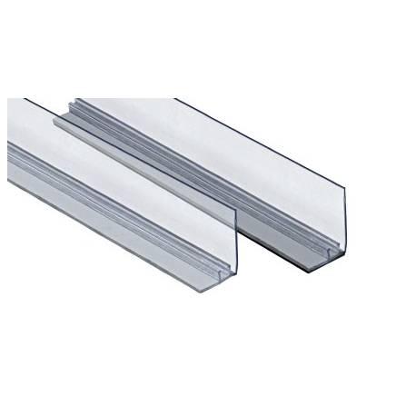 Rail adhesivo con frente para divisor de estantería