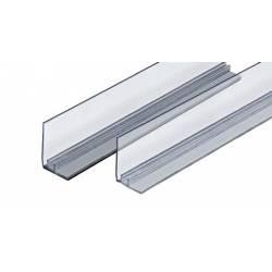 Rail magnetico con frente para divisor de estantería
