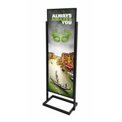 Marco con patas para cartel 50 x 140 cm impreso foam