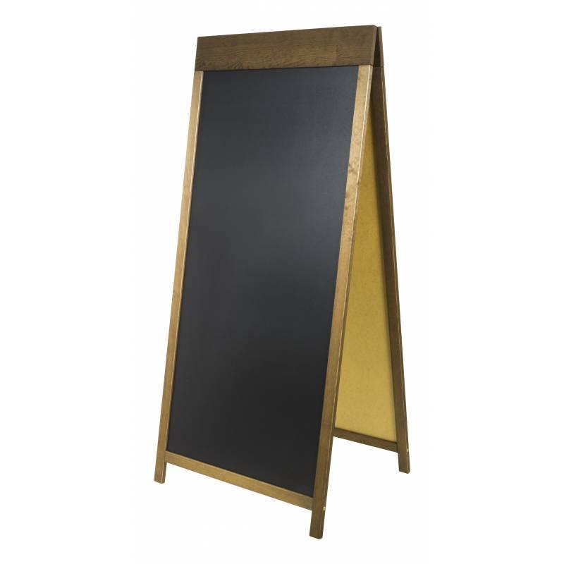 caballete pizarra de 160x72 cm con copete superior de 12 cm. Black Bedroom Furniture Sets. Home Design Ideas