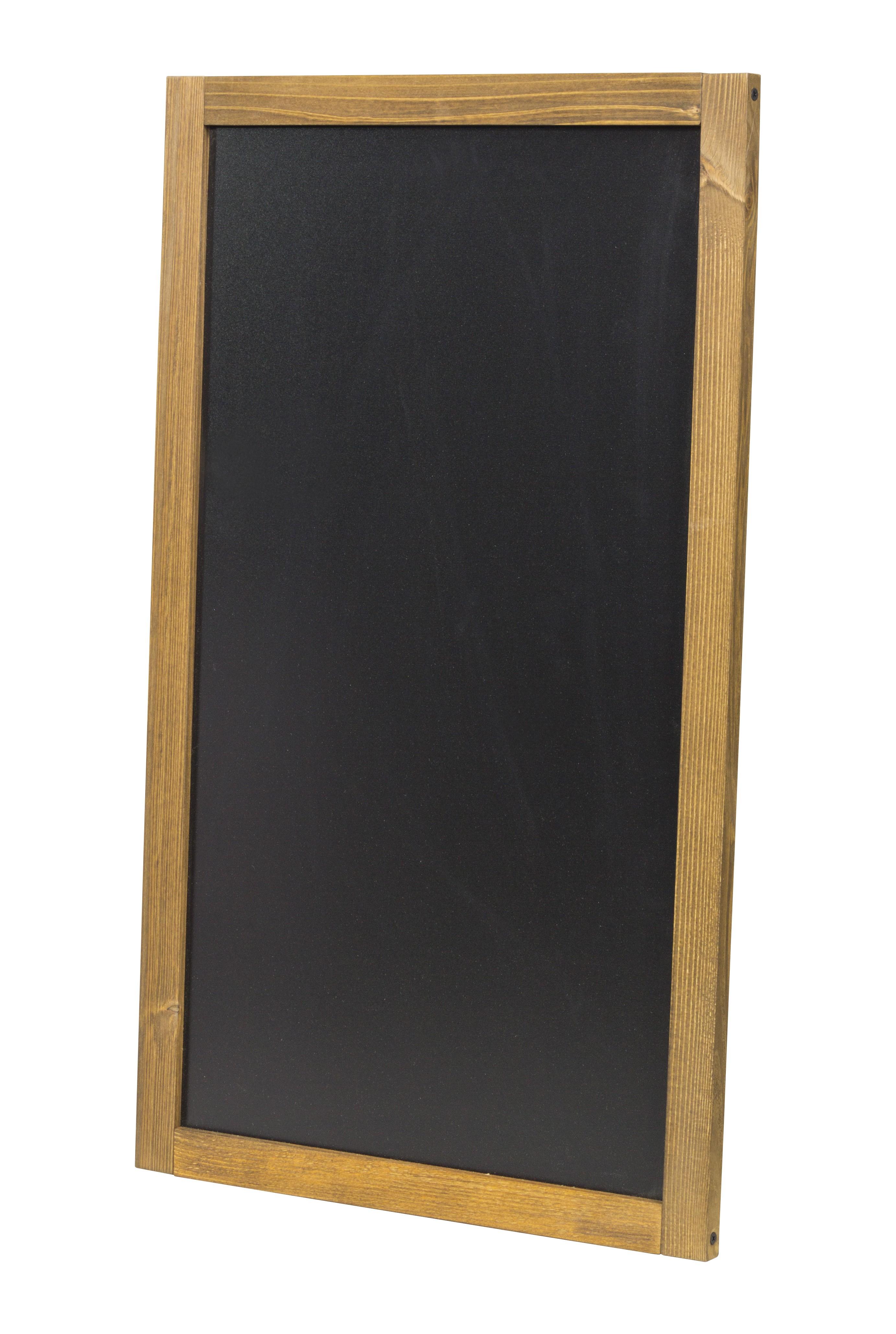 Pizarra para colgar de 47 x 79 cm para usar en horizontal o vertical.
