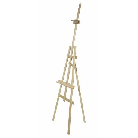 Caballete de madera de 178 cm de alto para lienzo de 31.5 a 133 cm de alto.