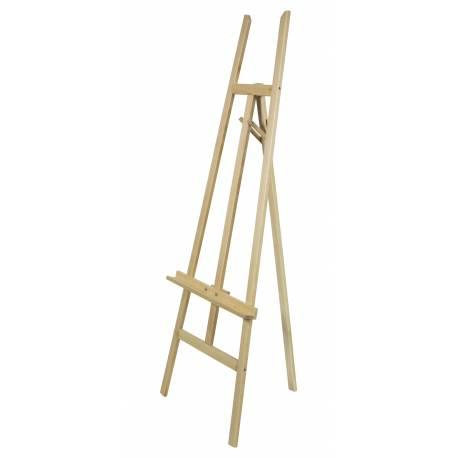 Caballete de madera para lienzo de 122 cm de alto