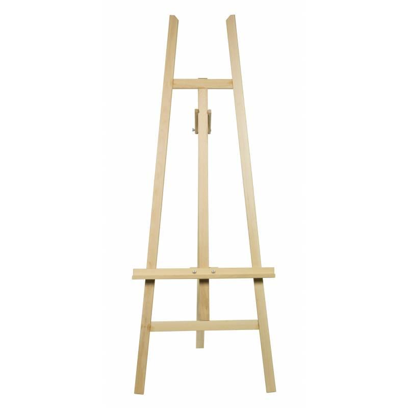 Caballete de madera de 156 cm de alto para lienzo de 122 - Caballetes de madera ...