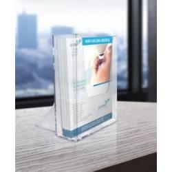 Cajetín para folletos de 10cm de ancho con peana