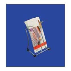 Portafolletos metálico para folletos 10x21 cm