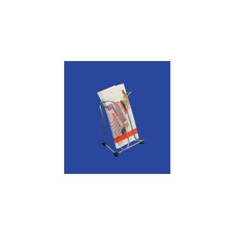 Portafolletos metálico Cromado para folletos tamaño 1/3 de A4 1 cajetin