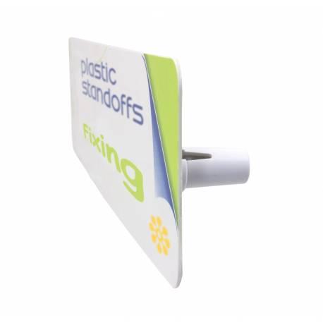 Embellecedor / metopa para cartel de pared en plástico