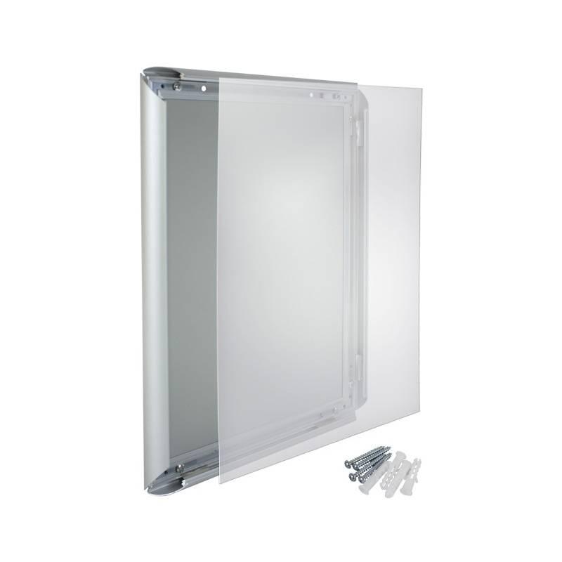 Marco de aluminio sistema clik para 50x70. Incluye protector frontal